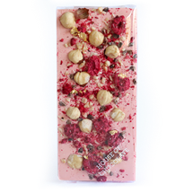 Picture of Raspberry & Hazelnut Chocolate Bar