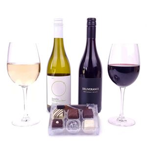 Picture of Two New Zealand Wines and Chocolates
