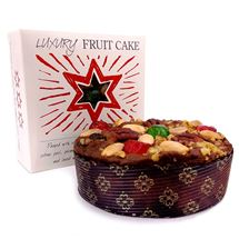 Picture of Luxury Glazed Round Fruit Cake (450g)